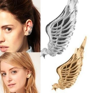 Gothic Punk Rock Earring Star Angel Wing Ear Cuff Warp Clip Ear Stud