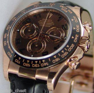 Rolex 18k Rose Gold Daytona 116515 Chocolate Ceramic 116515 WATCH