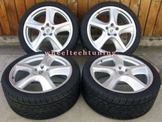 CAYENNE SPORT TECHNO WHEEL AND TIRE PACKAGE   SILVER WHEELS/RIMS