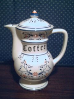 Royal Sealy Blue White Heritage 4 cup Coffee Pot Japan