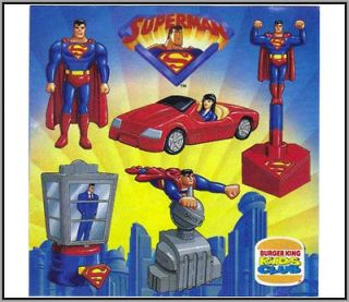Burger King Happy Meal Superman Animated Series Toy Set MISB Rare