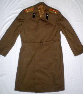 Vintage Russian Soviet Military Army Officer Uniform Cloak Cape Coat L