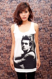 US Folk Rock POP ART Fashion WOMEN T SHIRT DRESS Tank TOP Size S M