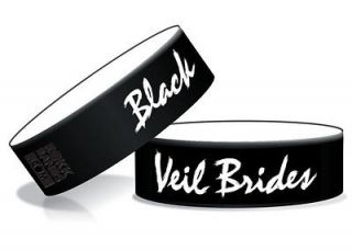 Black Veil Brides 2 Tone Logo B/W Rubber Wristband,Bracelet,Officially