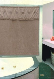 Western Star Shower Curtain Polyester Suede Feel Fabric Matches Listed