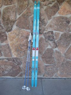 Country Crown Air Tec Cross Country Skis w Salomon SNS Bindings 195cm