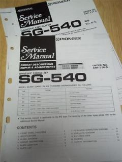 Service Manual~SG 540/​550 Graphic Equalizer~Orig​inal~Repair