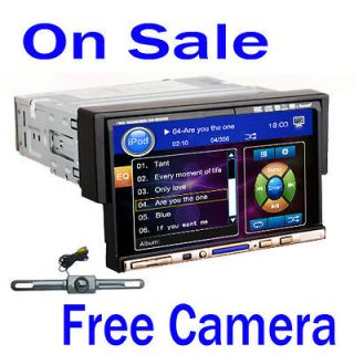 Din Motorized Touch Screen Car DVD Player Bluetooth Ipod TV+Camera