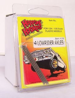 HOPPIN HYDROS 1/24 1/25 4 LOWRIDER AXLES Model Car Rims