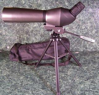 SPOTTING SCOPE w/ CASE and TRIPOD 20 60x 60mm telescope