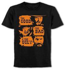 The Bad & The Ugly   T Shirt, Classic Spaghetti Western Movie, Clint