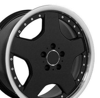 18 AMG Wheels Black Set of 4 Rims Fit Mercedes C E S Class SLK CLK