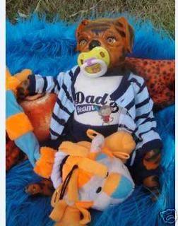 OOAK Reborn BABY TIGER PUG PUPPY   pug puppy reborn 16 long