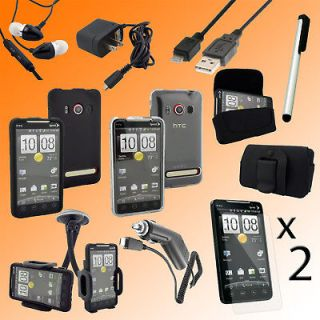 All in One Accessory Bundle Case Charger for HTC EVO 4G Sprint