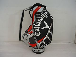 EDITION CALLAWAY RAZR TOUR AUTHENTIC 10 STAFF GOLF BAG (SILVER RED