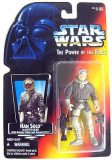 STAR WARS FIGURE Han Solo in HOTH Gear with Blaster Pistol& 1995 by