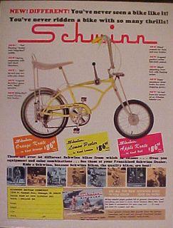 Lemon Peeler Sting~Ray Bicycles Boys 5~Speed Kids Bike Trade AD