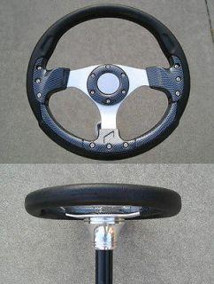 RZR 12.5 dark carbon fiber steering wheel GEM Ranger star