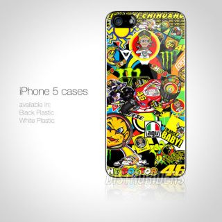Rossi The Doctor 46 MotoGP Champion Sticker Bomb iPhone Case 5