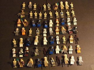 Lot of 70 Lego STAR WARS Mini Figures Minifigures Fig Droids Clone