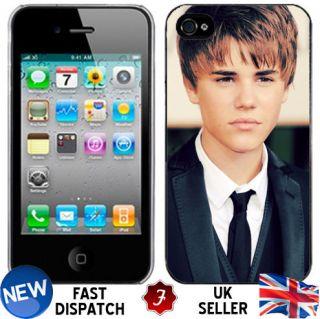 JUSTIN BIEBER Suit Vintage iPhone 4 4s Plastic Hard Phone Cover Case