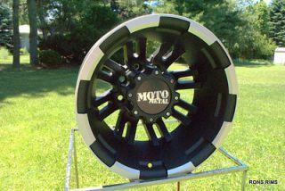 MOTO METAL BLACK MACHINED 963 DUALLY 17 X 6 05 UP FORD F350 WHEELS