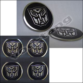 4pcs Transformers Autobot Car Steering Wheel Center Cap Badge Emblem
