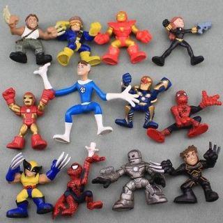 12X Marvel Super Hero Squad The Amazing Spider Man Iron Man Avengers