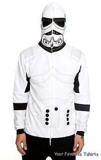 Licensed Star Wars I am A Stormtrooper Costum Suit Zip Up Hoodie S XXL