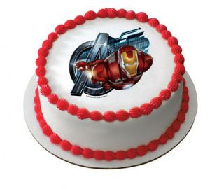 Avengers Iron Man Edible Cake OR Cupcake Toppers Decoration by DecoPac