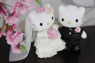 Dress 2pcs White Black Couple Hello Kitty Cat Stuffed Plush Toy 8