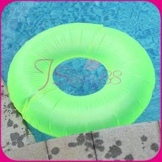 Green Beach Swimming Inflatable Swim Ring Tube Pool Float Ring Fun Toy