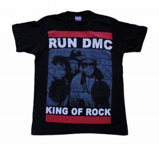 RUN DMC T SHIRT KING OF ROCK TEE MEN MEDIUM