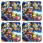 Super Mario Luigi Rosalina Peach Mario And Sonic Tails Coaster Mat Set