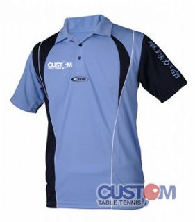 Tsoma High Quality Breathable Dry Fit Custom Table Tennis Shirt Sky
