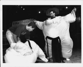 1993 Mike Barrasso Brian Chait Playoffs Sports Bar Sumo Suits Press