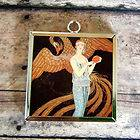 2x FLAPPER PHOENIX Art Glass Charm Pendant Necklace