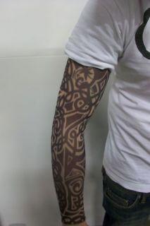 Fake Tattoo Sleeve Cloth Arm Art   Tribal Design T1