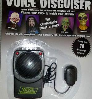 HALLOWEEN SOUND VOICE CHANGER DECORATION PROP 10 DIFFERENT