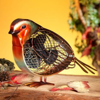 Robin Redbreast Bird Figurine Fan by Deco Breeze