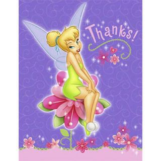 TINKERBELL BIRTHDAY PARTY SUPPLIES THANK YOU CARDS TINK