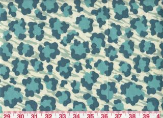 Kaufmann Simba in Palm Teal! Beautiful Animal Print Fabric! ~ Free