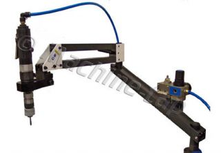Tapping Machine Arm & Pneumatic Motor Quick Collet Threading
