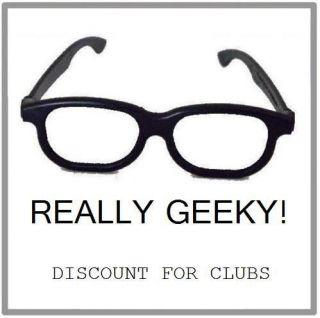 Geek / Nerd Glasses   Black   Fancy Dress