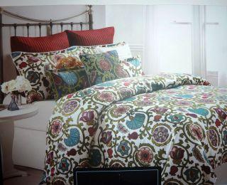 Cynthia Rowley Floral Birds Comforter Sheets Gray Purple