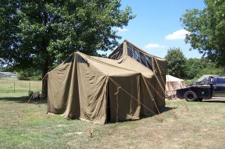 MILITARY TENT M1948 KITCHEN TENT 12x18 ARMY SURPLUS