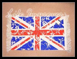 UK UNION JACK GREAT BRITAIN FLAG @ PURE COTTON RUG CARPET RUNNER