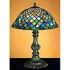 TIFFANY STYLE COLORFUL FISHSCALE TABLE LAMP LIGHT LAMPS LIGHTING NEW