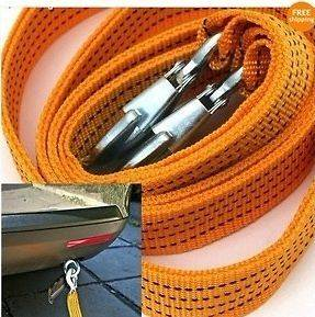 Tons Tow Strap Car Towing Rope Heavy Duty 10 FT.