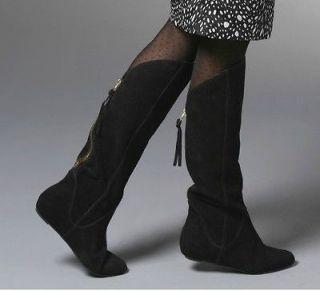 NEW Steven by STEVE MADDEN Knee High Womens BOOTS w/ Zipper * Black